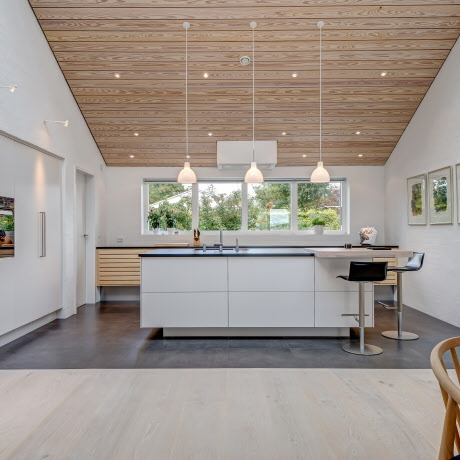 Beautiful kitchen in ash and white